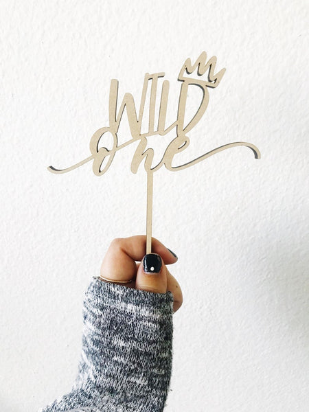 Wild One with Crown Cake Topper