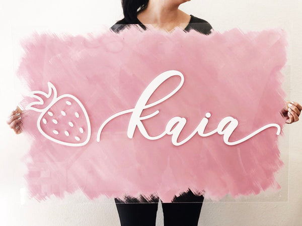 Custom Painted Acrylic Name Sign - 24