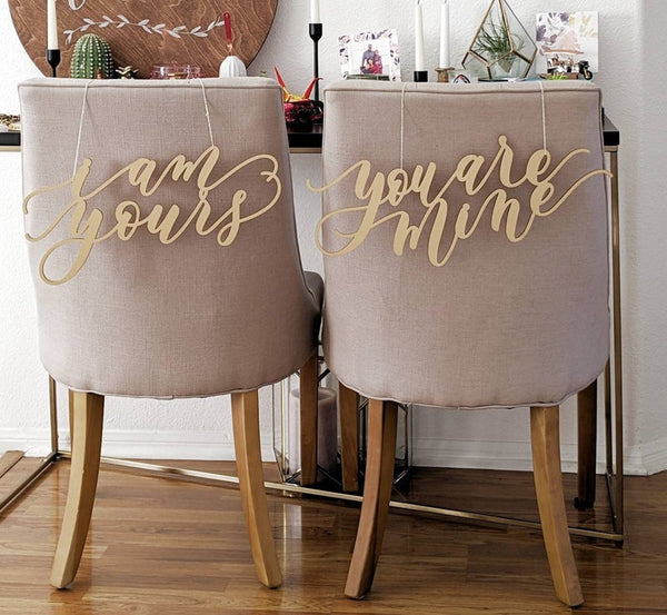 I Am Yours You Are Mine - Game Of Thrones Laser Cut Chair Backs