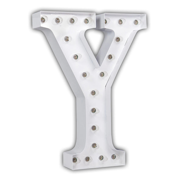 "24"" White Letter Y"