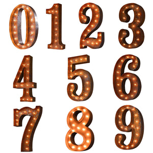 "24"" Numbers Vintage Marquee Lights - Free Shipping"