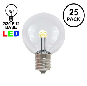 25 Pack LED G30 Globe Replacement Bulbs