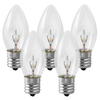"25 Pack C9 size Replacement Bulbs for 24""/36"" stock marquee signs"