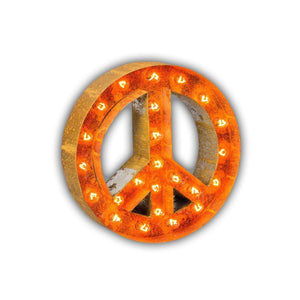 "Peace Sign 12"" Rust - Free Shipping"