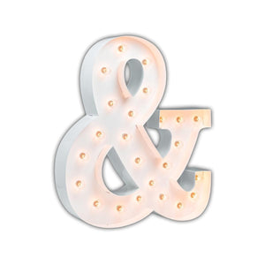 "Ampersand &-sign 24"" WHITE - Free Shipping"