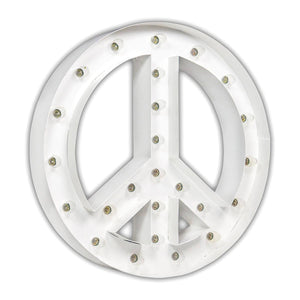 "Peace Sign 24"" WHITE - Free Shipping"