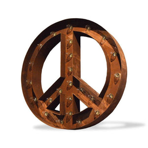"Peace Sign 24"" Rust - Free Shipping"