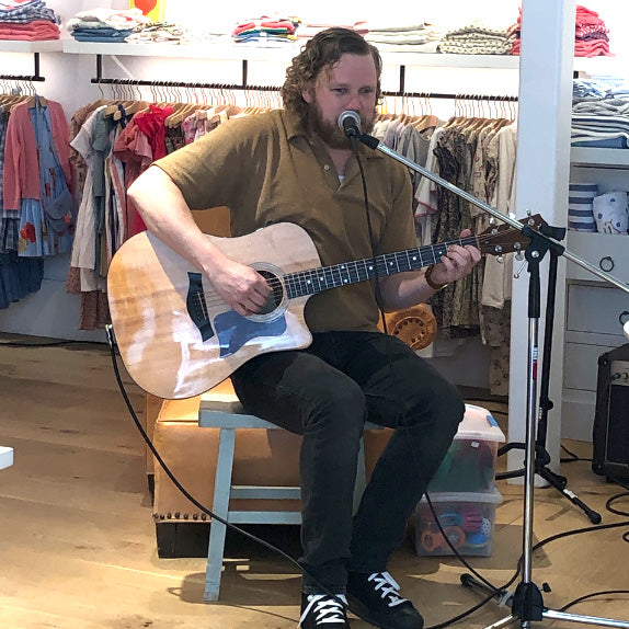 Music Time with Mr. Andrew. Thursdays at Poppy Store Marin