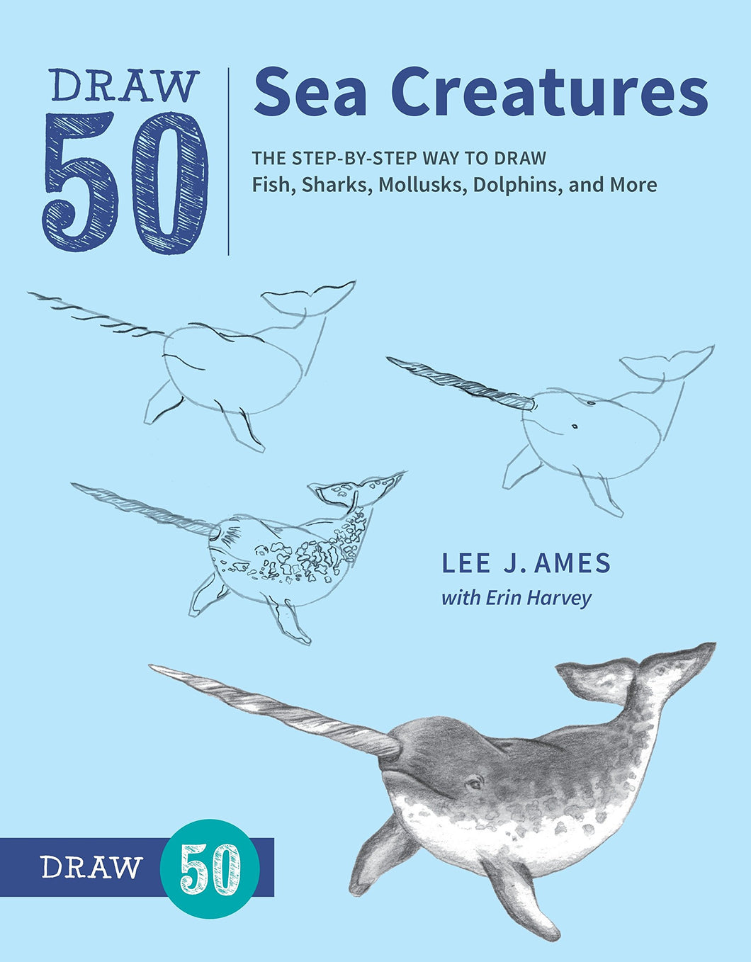 draw 50 sea creatures book