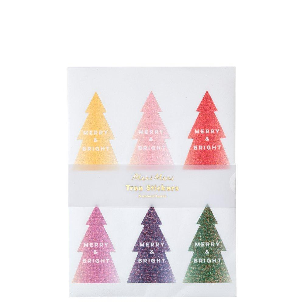 glitter ombre tree sticker sheets