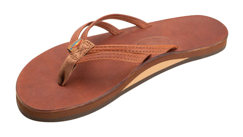 RAINBOW SANDALS THE SANDPIPER - LUXURY LEATHER SINGLE LAYER ARCH SUPPORT WITH A DOUBLE NAORROW STRAP