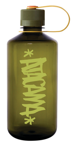 "ATACAMA X NALGENE  NARROW MOUTH 32OZ ""SCRIPT"" ART BY NICK BRANDAU"