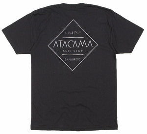Open image in slideshow, ATACAMA SURF SHOP TEE SHIRT 100% COTTON WATER BASE INKS LOCALLY MADE