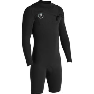 VISSLA 7 SEAS 2/2 LS SPRING SUIT BLACK WITH JADE