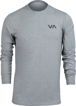RVCA SPORT VENT LONG SLEEVE TOP  CHARCOAL HEATHER