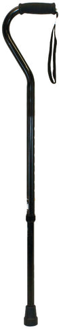 Heavy Duty Offset Cane, Black, 20/cs