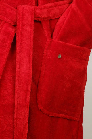 Cyell Cotton Terry Velour Robe TER606 - SCARLET