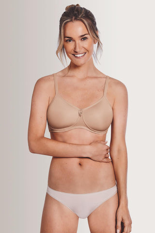 Amoena Lara Satin Padded Wireless Bra 44214