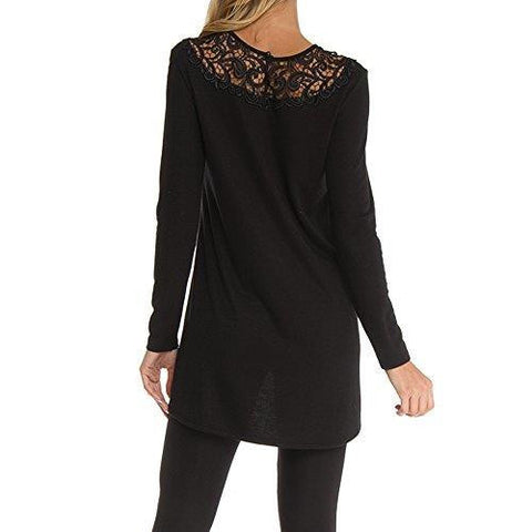 Black Arianne Elsa 9545 Fishtail hem - Back Side