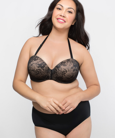 Curvy Couture Strapless Sensation Multiway Push-Up Bra 1211