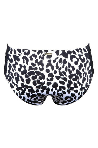 Aqua Blu Gathered Side Swim Bottom Jaguar A5131 - Back side