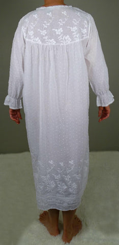 Victoriana Long Sleeve Night Dress 597