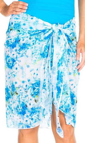 TOGS Summer Rose Mesh Wrap Skirt 1878689