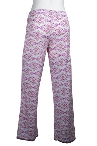 Cool Girl Sleep Pants C518303 - Wht/Pur Geo
