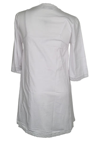 Victoriana Lucy Short Robe 467 White