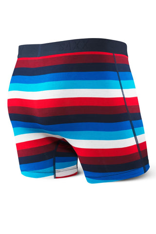 SAXX Ultra Open Fly Boxer Brief SXBB30f-NCS Navy/Red Cabana Stripe