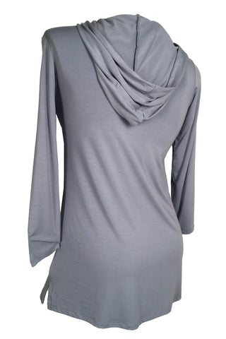 Rapz Bamboo Hooded Long Tunic 4788 Ice Blue