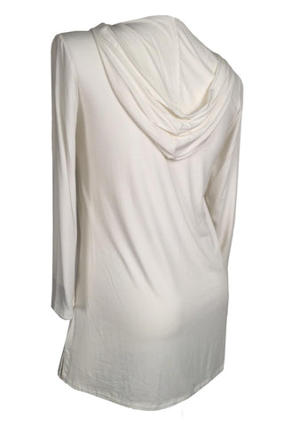 Rapz Bamboo Hooded Long Tunic 4788 Ivory