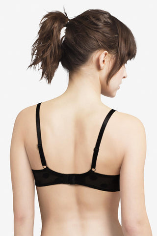 Passionata Brooklyn Plunge T-Shirt Bra 5701 Black Dot