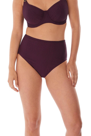 Long Island High-Rise Swim Bottom FS6907 Vino