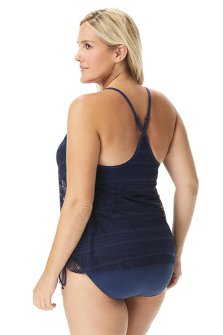 Kerry Plus Crochet Tankini Top HW25355