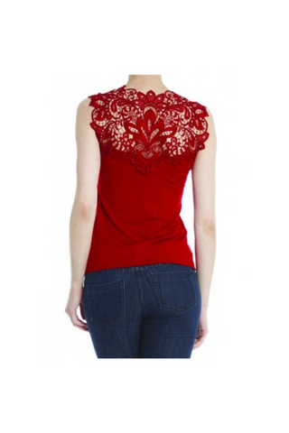 Arianne Reversible Teri Lace Camisole 5501L - Red