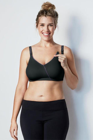 Bravado Essential Embrace Nursing Bra 125 Black/Purple