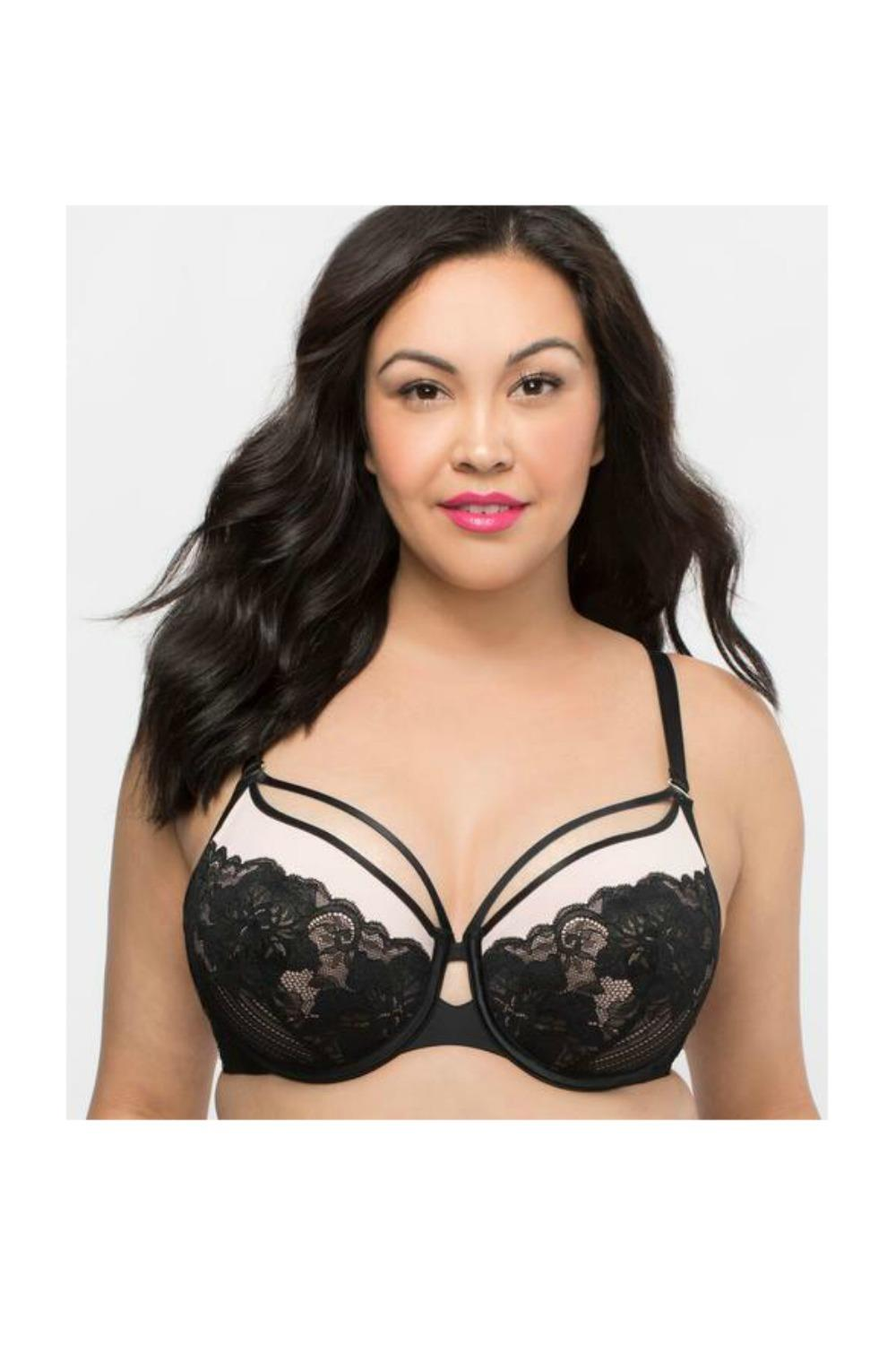 155cb700fa2e0 Curvy Couture Tulip Strappy Push Up Plus Size Bra 1267 - My Top Drawer