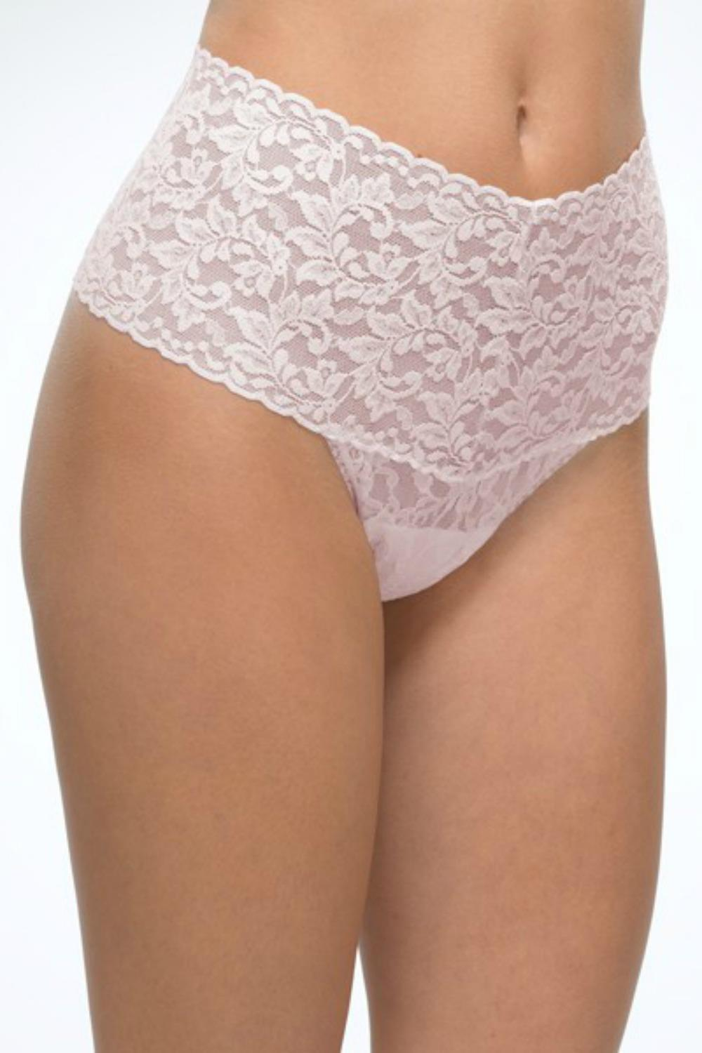 3f60117497e Hanky Panky Retro Lace Thong 9K1926 Bliss Pink - My Top Drawer