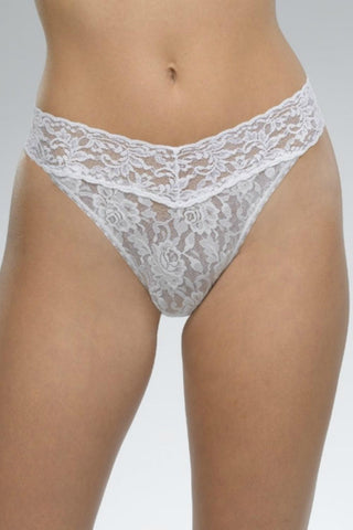 Hanky Panky Signature Lace Original Rise Thong- Wrapped 4811P White