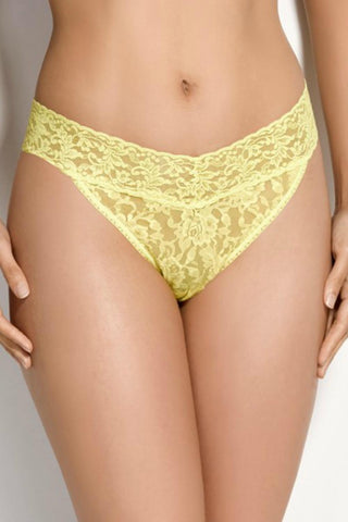 Hanky Panky Signature Lace Original Rise Thong- Wrapped 4811P Lemongrass