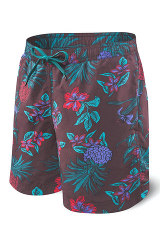 "SAXX 2N1 Cannonball 7"" Swim Short SXSS30-RPP Red Pineapple Party"