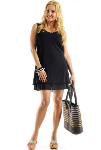 Rapz Layered dress Black 4370