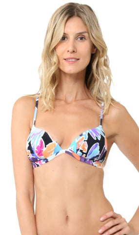 Sunseeker New Tahitian Pleated Triangle Top 2191053 Navy Floral