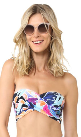 Sunseeker New Tahitian Bandeau Top 2191062 Navy Floral