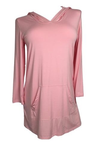 Rapz Bamboo Hooded Long Tunic 4788 Blush Pink