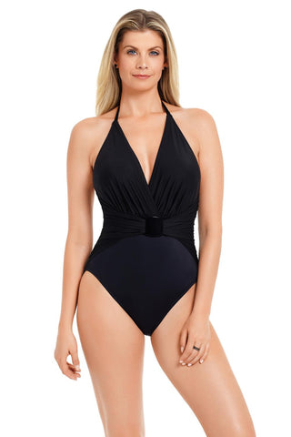 Magicsuit Solid Angelina One Piece Swimsuit 6008014 Black