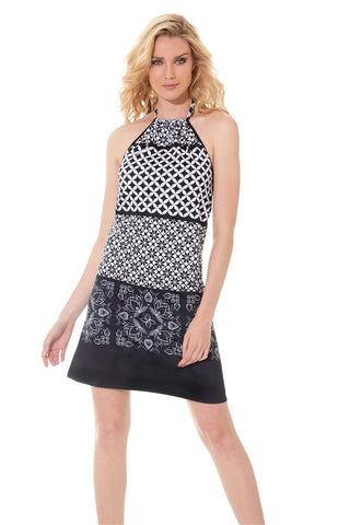Miss Versa Aude Dress R16020 Blk/Wht