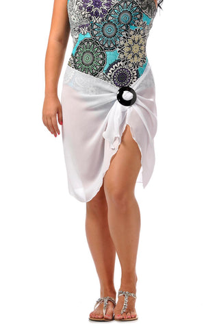Rapz Short Georgette Pareo 4000G White