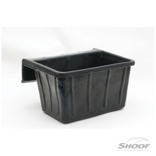 Feed Tub Recycled Rubber 16L Rail Mt